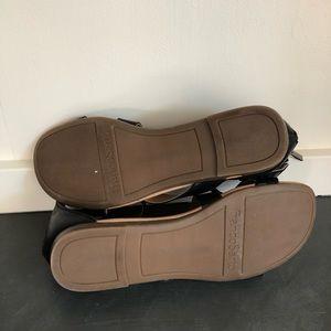 Franco Sarto Shoes - FRANCO SARTO Black Flat Sandals Size 9.5